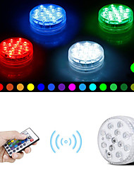 cheap -13 LED Submersible Lights Remote Controlled RGB Changing Underwater Waterproof Lights for Pond Pool Fountain Aquarium Vase Hot Tub Bathtub Party 1Pack