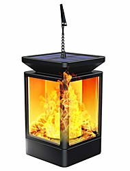 cheap -Solar Lantern Lights Flickering Flame Outdoor Garden Lamp Solar Powered Waterproof Hanging Lanterns Dusk to Dawn Auto On/Off Landscape Lighting for Patio Yard Pathway
