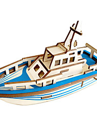 cheap -3D Puzzle Wooden Puzzle Ship Pirate Ship Simulation Hand-made Wooden 27/33 pcs Boat Kid's Adults' All Toy Gift