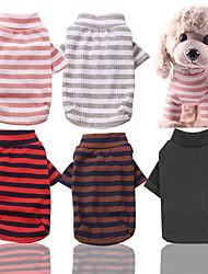 cheap -Dog Cat Pajamas Dog Clothes Green Red Pink Costume Husky Labrador Golden Retriever Cotton Stripes Casual / Daily Stripes XS S M L XL XXL