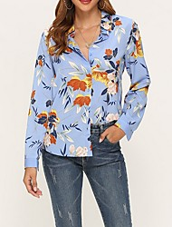 cheap -Women's Daily Shirt - Floral Black
