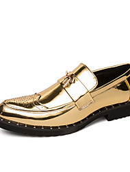 cheap -Men's Formal Shoes PU Spring & Summer / Fall & Winter Casual / British Loafers & Slip-Ons Black / Gold