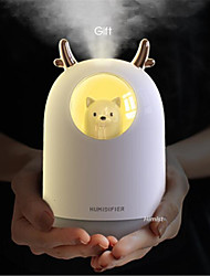 cheap -Humidificador USB lindo Pet ultrasnico niebla fra Aroma aire aceite difusor LED lmpara de luz nocturna humidificador