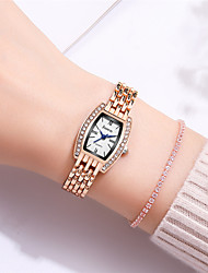 cheap -Women's Quartz Watches Synthetic Diamond Luxury Fashion Silver Gold Alloy Chinese Quartz Rose Gold Silver Casual Watch Imitation Diamond 30 m 1 pc Analog Two Years Battery Life