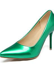 cheap -Women's Heels Stiletto Heel Pointed Toe PU Classic / British Spring &  Fall Black / White / Green / Wedding / Party & Evening