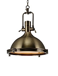 cheap -1-Light 40 cm Creative Pendant Light Metal Industrial Electroplated Artistic Nordic Style 110-120V 220-240V