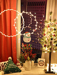 cheap -1.5m String Lights 50 LEDs 1 set Warm White Valentine's Day Christmas Decorative Christmas Wedding Decoration Curtain String Lights AA Batteries Powered