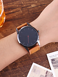 cheap -Men's Dress Watch Quartz Modern Style PU Leather Casual Watch Large Dial Analog Casual Fashion - Black Black / White White / Brown