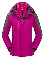 cheap -Women's Ski Jacket Ski / Snowboard Winter Sports Thermal / Warm Windproof Wearable Polyester 3-in-1 Jacket Winter Jacket Ski Wear / Patchwork