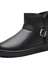 baratos -Homens Sapatos Confortáveis Couro Ecológico Outono & inverno Botas Botas Curtas / Ankle Preto / Café