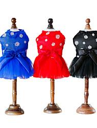 abordables -Chat Chien Manteaux Smoking Robe Vêtements pour Chien Floral / Botanique Bleu Coton Costume Pour les animaux domestiques Eté Soirée