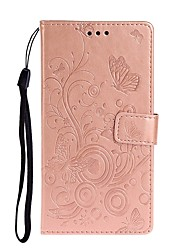 cheap -Case For Xiaomi Pocophone F1 / Redmi Note 7 / Redmi Note 6 Pro Wallet / Card Holder / with Stand Full Body Cases Butterfly / Solid Colored PU Leather For Redmi K20/K20 Pro/Redmi 8/8A/Note 10/Note 8