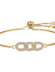 cheap -Women's Chain Bracelet Geometrical Flower Fashion Gold Plated Bracelet Jewelry Black / Rose Gold / Gold For Gift Daily