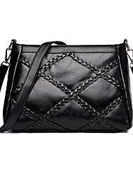 cheap -Women's Chain Faux Leather / PU Crossbody Bag Striped Black