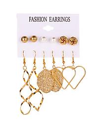 cheap -Women's Ear Piercing Hoop Earrings Earrings Classic Heart Earrings Jewelry Gold For Club Bar Festival