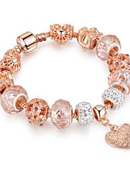 cheap -Women's Synthetic Amethyst Chain Bracelet Geometrical Heart Fashion Alloy Bracelet Jewelry Golden 2 For Gift Daily