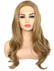 cheap -Synthetic Lace Front Wig Body Wave Free Part Lace Front Wig Long Golden Brown / Ash Blonde Synthetic Hair 18-26 inch Women's Heat Resistant Classic Synthetic Blonde / Natural Hairline