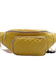 Недорогие -Универсальные Молнии PU Поясная сумка Решетка Черный / Розовый / Золотой