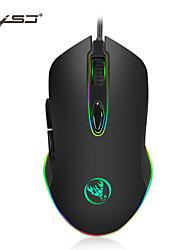 cheap -HXSJ S500X Wired USB Optical Gaming Mouse / Office Mouse RGB Light 4800 dpi 4 Adjustable DPI Levels 7 pcs Keys 6 Programmable Keys