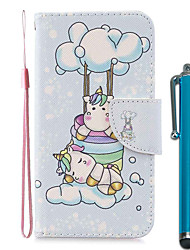 cheap -Case For Apple iPhone 11 / iPhone 11 Pro / iPhone 11 Pro Max Wallet / Card Holder / with Stand Full Body Cases Two Unicorns PU Leather / TPU for iPhone 7 / 7 Plus / 8 / 8 Plus / X / XS / XR / Xs Max