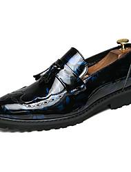 abordables -Homme Chaussures Formal Polyuréthane Printemps été / Automne hiver Rétro Vintage / Britanique Mocassins et Chaussons+D6148 Marche Ne glisse pas Noir / Rouge Bordeaux / Bleu / Mariage
