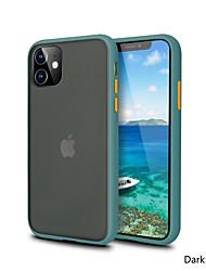 cheap -Contrast Color Mobile Phone Case Luxury Matte Hard Frame PC Case For IPhone 11 Pro X XR XS Max 7 8 Plus Fashion Matte Phone Case