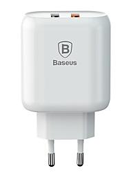 Недорогие -Dual-USB зарядное устройство Baseus Bojure серии для ЕС 18 Вт белый