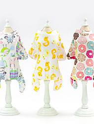 abordables -Chat Chien Tee-shirt Vêtements pour Chien Jaune Clair Blanche Jaune Costume Coton Cosplay Mariage XS S M L XL XXL