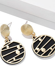 cheap -Women's Earrings Geometrical Happy Stylish Simple Basic Earrings Jewelry Black / Brown / Red For Graduation Gift Daily Holiday Festival 2pcs