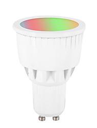 Недорогие -1шт 6 W Умная LED лампа 1000 lm GU10 GU5.3 E26 / E27 21 Светодиодные бусины Контроль APP Smart синхронизация RGB + холодный и теплый белый 85-265 V