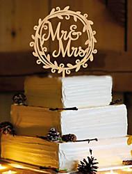 Недорогие -Украшения для торта Бабочки Монограмма Резина Свадьба с 1 pcs Пенополиуретан