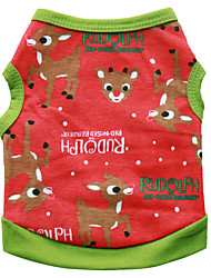 cheap -Dog Vest Winter Dog Clothes Black Green Costume Cotton Print Cosplay Christmas XS S M L
