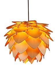 cheap -1-Light ZHISHU 35 cm LED Pendant Light Wood / Bamboo Wood / Bamboo Novelty Painted Finishes Traditional / Classic / Nordic Style 110-120V / 220-240V