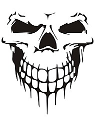 cheap -2pcs Car Stickers 15.9CM*17.7CM JDM Skull Sticker Car Motorcycles Decoration Reflective Sticker Styling Decals