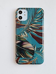 cheap -Case for Apple scene map iPhone 11 X XS XR XS Max 8 colorful leaf pattern thickened TPU material IMD process all-inclusive mobile phone case BC