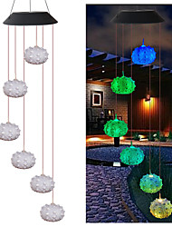 cheap -1x Color-Changing LED Solar Powered Sea Urchin Wind Chime Lights Yard Garden Decoration Night Light for Yard Hall Living Room