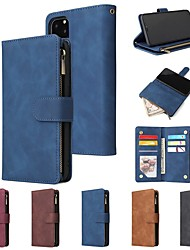 cheap -Leather Wallet Case For iPhone 12 Pro Max / 11 Pro Max Wallet / Card Holder / Shockproof Multi-Function Pocket PU Leather for iPhone XS Max / XR / XS / X / iPhone 8 Plus / iPhone 7 Plus / 6s Plus