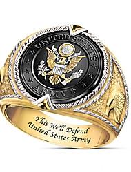 cheap -Men Ring Geometrical Gold Brass Gold Plated Totem Series Fashion 1pc 7 8 9 10 11 / Men's