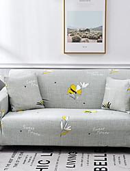 abordables -fleurs et plantes imprimer housses tout-puissant housse de canapé extensible housse de canapé en tissu super doux avec une taie d'oreiller gratuite