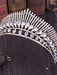 cheap -Alloy Tiaras / Headpiece with Metal / Crystals / Rhinestones 1 Piece Wedding Headpiece