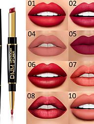 Недорогие -марка dnm двухголовая помада для губ многофункциональный жемчужный матовый карандаш для помады водонепроницаемый долговечный макияж губ