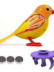 cheap -Electronic Pets Bird Animal Singing with Sound Sensor Lovely Rubber Kid's Adults' Toy Gift