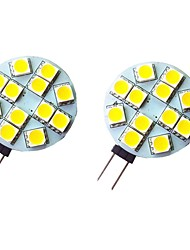 cheap -2pcs 2 W LED Bi-pin Lights 200 lm G4 12 LED Beads SMD 5050 Warm White White 12 V