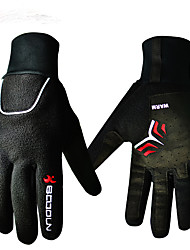 cheap -BOODUN Winter Winter Gloves Bike Gloves / Cycling Gloves Mountain Bike MTB Thermal / Warm Waterproof Windproof Breathable Full Finger Gloves Sports Gloves Black for Adults' Outdoor / Anti-Slip