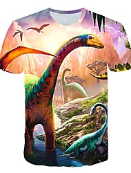 cheap -Kids Toddler Boys' Active Street chic Fantastic Beasts Print Print Short Sleeve Tee Rainbow