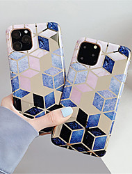 cheap -Case For Apple iPhone 11 / iPhone 11 Pro / iPhone 11 Pro Max Shockproof / Plating / Ultra-thin Full Body Cases Geometric Pattern TPU