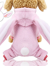cheap -Dog Cat Sweater Hoodie Jumpsuit Ordinary Casual / Daily Leisure Winter Dog Clothes Puppy Clothes Dog Outfits Pink Costume for Girl and Boy Dog Lamb Fur 100% Coral Fleece Polyester XS S M L XL XXL