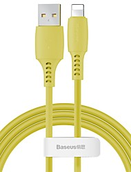 cheap -Baseus Colourful Cable USB For iP 2.4A 1.2m Pink