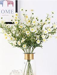 Недорогие -Моделирование дикая хризантема одна ветвь маленький свежий украшение интерьера 75 см