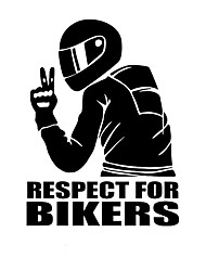 cheap -2pcs 14x19cm respect for bikers car sticker funny car stickers styling removable decal